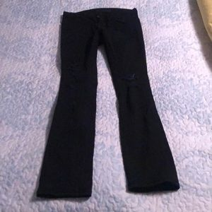 JBrand bootcut black ripped jeans, size 26